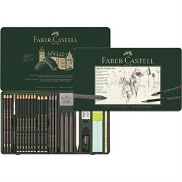 Faber Castell Pitt Graphite Set of 26 items Thumbnail Image 1