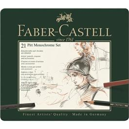 Faber Castell Pitt Monochrome Set of 21 items thumbnail