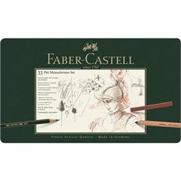 Faber Castell Pitt Monochrome Set of 33 items thumbnail