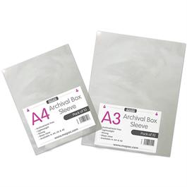 Mapac A4 Archival Box Sleeves Pack Of 10 - No holes thumbnail