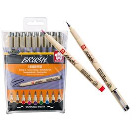 Pigma Brush Pen Wallet Of 9