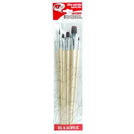 Pebeo Set Of 8 Brown Polyamide Brushes thumbnail