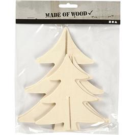 Pack of 2 Assorted Wooden Christmas Trees