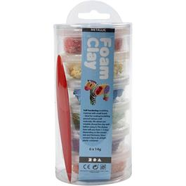 Foam Clay 14g x 6 Metallic Assortment - Bright Colours thumbnail