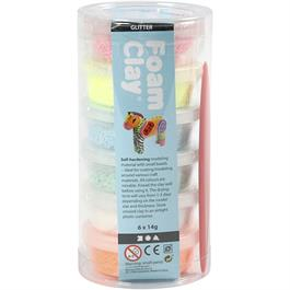 Foam Clay 14g x 6 Glitter Assortment