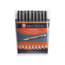 Pigma Micron Wallet 9 Colour Fineliners thumbnail