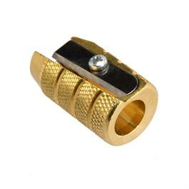Solid Brass Sharpener Barrel Style Single Hole thumbnail