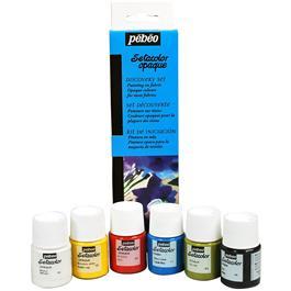 Pebeo Setacolor Opaque Discovery Set 6 x 20ml Thumbnail Image 0