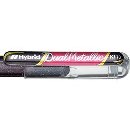 Pentel Dual Metallic Gel Roller 1.0mm Black + Metallic Red thumbnail