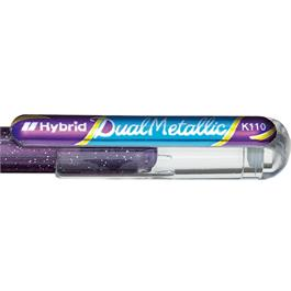 Pentel Dual Metallic Gel Roller 1.0mm Violet + Metallic Blue thumbnail