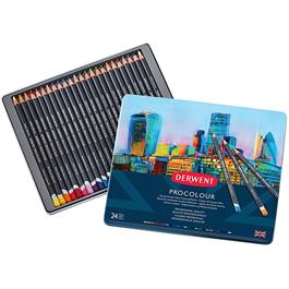 Derwent Procolour Pencils Tin Of 24 thumbnail