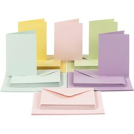 The Creativ Co. A6 Card & Envelope Pack x 50 Pastel thumbnail