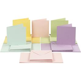 The Creativ Co. Square Card & Envelope Pack x 50 Pastel thumbnail