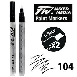 FW Mixed Media Paint Marker Set 1-3mm Chisel 104 thumbnail