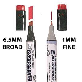 ZIG Kurecolor Twin WS Marker Pens Single Colours Thumbnail Image 1