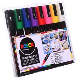 POSCA PC-5M Starter Pack 8 Pens Thumbnail Image 1