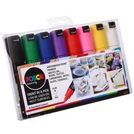 POSCA PC-8K Starter Pack 8 Pens Thumbnail Image 1
