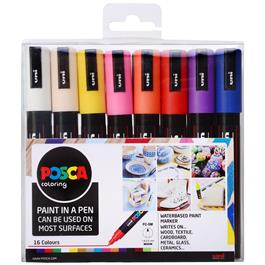 POSCA PC-5M Set Of 16 Pens thumbnail