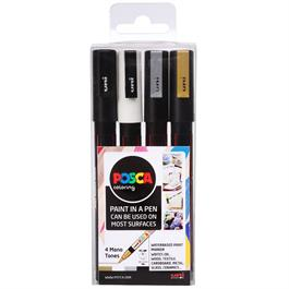POSCA PC-3M Mono Tones Pack Of 4 Pens thumbnail