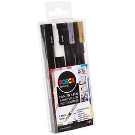 POSCA PC-3M Mono Tones Pack Of 4 Pens Thumbnail Image 1
