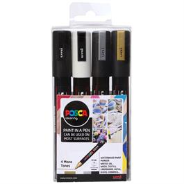 POSCA PC-5M Mono Tones Pack Of 4 Pens Thumbnail Image 0