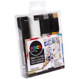 POSCA PC-8K Mono Tones Pack Of 4 Pens Thumbnail Image 1