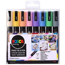 POSCA PC-5M Pastel Set Of 8 Pens thumbnail