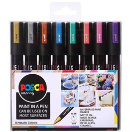 POSCA PC-5M Metallic Set Of 8 Pens Thumbnail Image 0