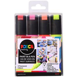 POSCA PC-8K Fluorescent Pack Of 4 Pens thumbnail
