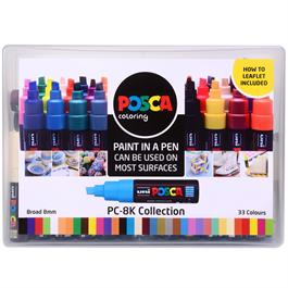 POSCA PC-8K Collection Pack Of 33 Pens Thumbnail Image 0