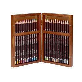 Derwent Coloursoft Pencils Wooden Box of 24 Thumbnail Image 1