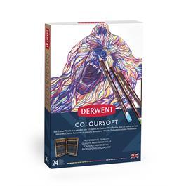 Derwent Coloursoft Pencils Wooden Box of 24 Thumbnail Image 2