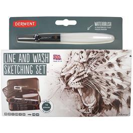 Derwent Sketching Line & Wash Set Thumbnail Image 0
