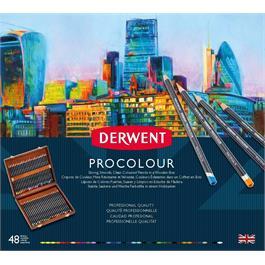 Derwent Procolour 48 Wooden Box Thumbnail Image 1