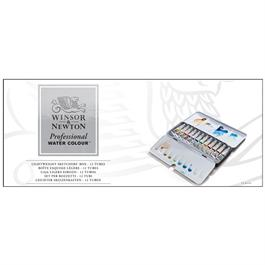 Winsor & Newton Professional Water Colour Box of 12 Tubes Thumbnail Image 1