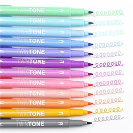 Tombow TwinTone Marker Set Of 12 Pastel Colours Thumbnail Image 4