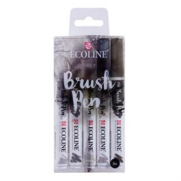 Ecoline Brush Pen Set Of 5 Grey Colours thumbnail