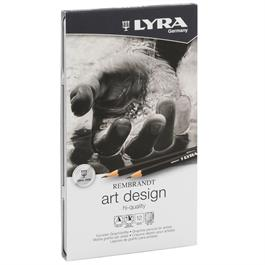 Lyra Rembrandt Art Design Tin Of 12 Graphite Pencils Thumbnail Image 1