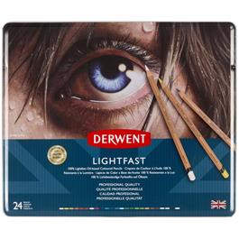 Derwent Lightfast Pencils Tin of 24 Thumbnail Image 0