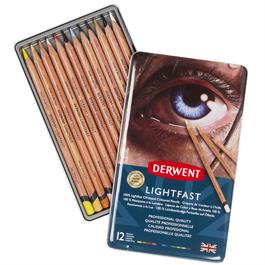 Derwent Lightfast Pencils Tin of 12 Thumbnail Image 1
