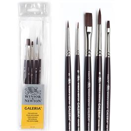 Galeria Short Handle Acrylic Brush Set of 5 Thumbnail Image 0