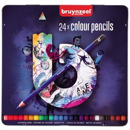 Bruynzeel 24 Colour Pencils In Blue Tin thumbnail