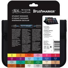 Winsor & Newton BrushMarker Student Designer 24 Set Thumbnail Image 1