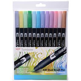Tombow Dual Brush Pen Set of 12 - Pastels Thumbnail Image 0