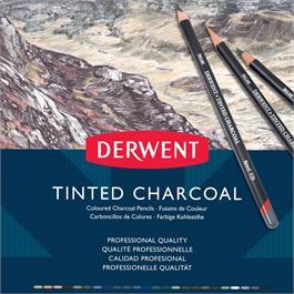 Derwent Tinted Charcoal Tin of 24 Thumbnail Image 1