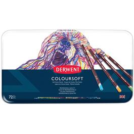 Derwent Coloursoft Pencils Tin of 72 Thumbnail Image 1