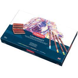 Derwent Coloursoft Pencils Wooden Box of 72 Thumbnail Image 2