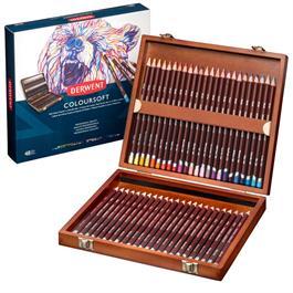 Derwent Coloursoft Pencils Wooden Box of 48 thumbnail