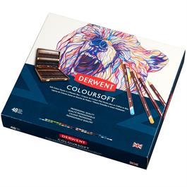 Derwent Coloursoft Pencils Wooden Box of 48 Thumbnail Image 2