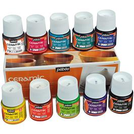 Pebeo Ceramic 10 x 45ml Colours thumbnail